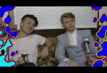 MTV Backstage Live Aid interview with David Bowie & Thomas Dolby