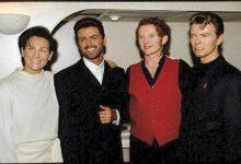 David Bowie backstage at Concert of Hope (1993)