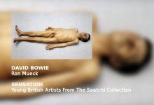 David Bowie narrates the audio tour of the Brooklyn Museum of Art's presentation of SENSATION – RON MUECK Dead Dad (1996-7)