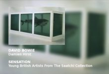 David Bowie narrates the audio tour of the Brooklyn Museum of Art's presentation of SENSATION – DAMIEN HIRST The Physical Impossibility of Death in the Mind of Someone Living (1991)