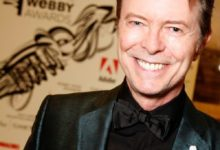 David Bowie winnng Lifetime Achievement Award at 2007 Webby Awards in NYC