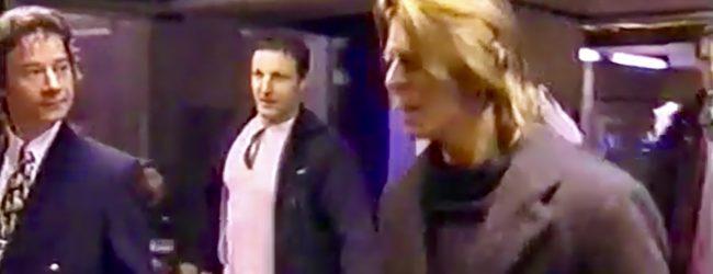 David Bowie at Heathrow Airport (BBC, April, 2000)