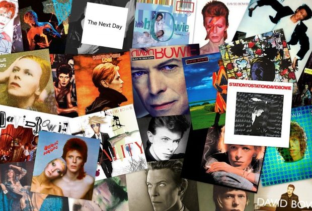 New David Bowie Vinyl, CD's & T-Shirts section