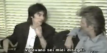 David Bowie, Ronnie Wood & Bill Wyman Backstage Interview (1987)