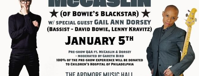 Philly Loves Bowie 2020, Donny McCaslin to play live with special guest Gail Ann Dorsey plus pre-show Q&A!