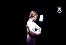 Newly unearthed short live clip from 1974! David Bowie at San Diego Sports Arena 1974