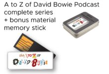 Win The complete A to Z of David Bowie Podcast on a branded & boxed memory stick + bonus content!